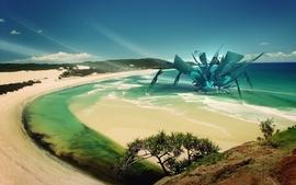 Abstract beach wallpaper