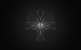 Abstract black butterfly wallpaper