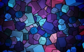 Abstract colorful cube wallpaper
