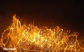 Abstract night lights wallpaper