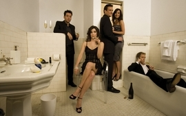 Alyson hannigan actress suit neil patrick harris bathroom people wallpaper