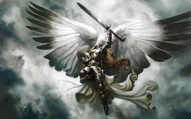 Angels magic the gathering serra angel wallpaper