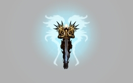 Angels wings diablo armor tyrael swords wallpaper