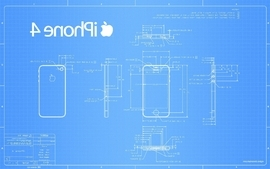 Apple inc blueprint iphone scheme wallpaper