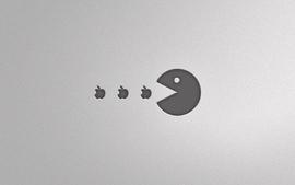Apple inc pacman logos wallpaper