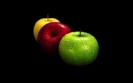 Apples black background wallpaper