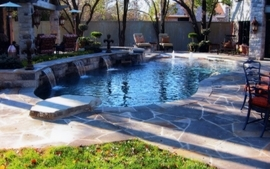 Architecture garden swimming pools wallpaper