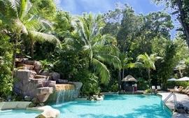 Architecture garden swimming wallpaper