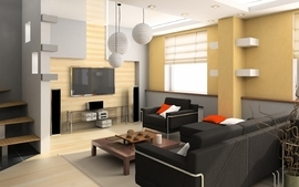 Architecture living room modern wallpaper