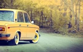 Autumn cars russian lada 2106 wallpaper