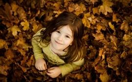 Autumn leaves kids wallpaper
