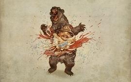 Baby team fortress 2 bears saxton hale anniversary wallpaper