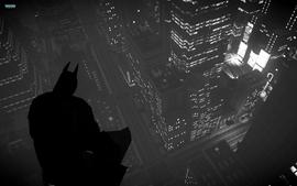 Batman cityscapes silhouette grayscale city lights batman the wallpaper