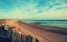 Beach france dreamy seascapes filsru vende wallpaper