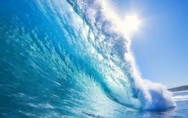 Beach sea waves wallpaper