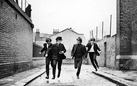 Beatles running wallpaper