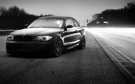 Black and white bmw cars wallpaper