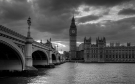 Black and white cityscapes london big ben wallpaper