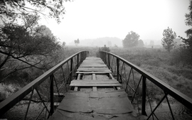 Black and white landscapes nature bridges wallpaper