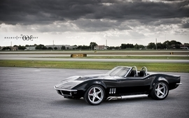 Black cars vehicles supercars tuning chevrolet corvette 360 4 wallpaper