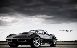 Black cars vehicles supercars tuning chevrolet corvette 360 5 wallpaper