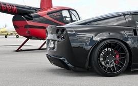 Black cars vehicles supercars tuning chevrolet corvette wheels wallpaper