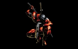 Black comics deadpool wade wilson artwork marvel comics black wallpaper