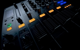 Black music artistic studio mixers techno turntables effects wallpaper