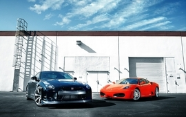 Black red cars nissan vehicles supercars tuning wheels sport wallpaper