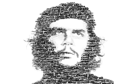 Black white che typography rebel che guevara typographic wallpaper