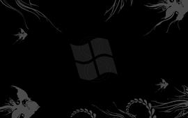 Black windows 7 microsoft logos wallpaper
