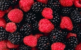 Blackberry fruit raspberries berries wallpaper