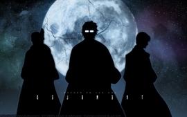Bleach moon silhouette ichimaru gin aizen sousuke tousen kaname wallpaper