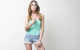 Blondes legs women teen glasses amateurs wallpaper