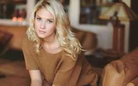 Blondes women blue eyes models lips sweater berit birkeland wallpaper
