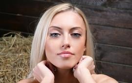 Blondes women closeup eyes blue eyes faces margarita b wallpaper