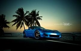 Blue chevrolet corvette chevrolet corvette z06 wallpaper