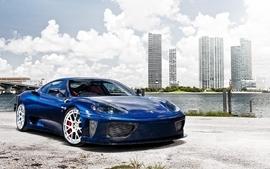Blue clouds cars ferrari vehicles ferrari f430 blue cars wallpaper