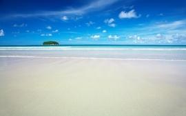 Blue ocean clouds landscapes nature paradise islands seascapes wallpaper
