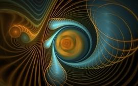 Blue orange fractals wallpaper