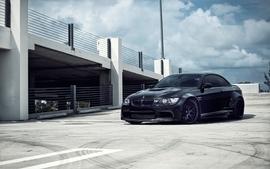 Bmw black cars tuning garages parking lot wallpaper