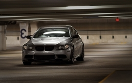 Bmw cars parking lot silver cars wallpaper