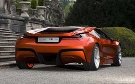 Bmw futuristic concept art concept cars sports cars orange cars wallpaper