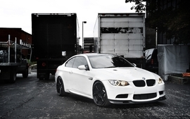 Bmw white cars wallpaper