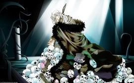Boots skulls red eyes pandora hearts anime white hair xerxes wallpaper