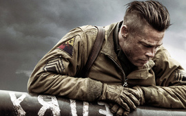 Brad Pitt in Fury wallpaper