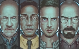 Breaking bad artwork series bryan cranston aaron paul jonathan wallpaper
