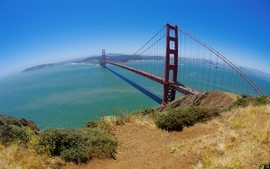 Bridges golden gate bridge san francisco pacific ocean wallpaper