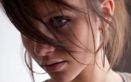 Brunettes eyes blue eyes wallpaper
