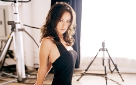 Brunettes women actress olivia wilde long hair black dress wallpaper